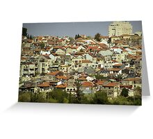 A panorama view on Nahlaot suburb in Jerusalem Greeting Card