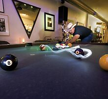 Late Night Billiards by Glennis  Siverson