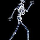 Handdrawn Skeleton X-Ray by Rob Davies