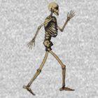 "Handdrawn Skeleton doing ""Like an Egyptian"" by Rob Davies"