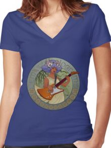 Nouveau Shana Women's Fitted V-Neck T-Shirt