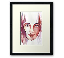 Red hot woman Framed Print