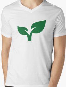 Green leaves Mens V-Neck T-Shirt
