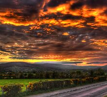 Sperrin Valley Sunset - Draperstown, Co. Derry by Kieran Donnelly