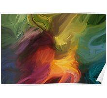 """Flow"" - Abstract Digital Art Poster"