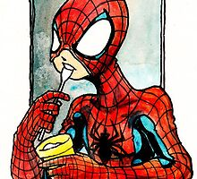 Spiderman with Icecream by MonkeyManLabs