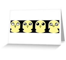 Gunter's Faces Greeting Card