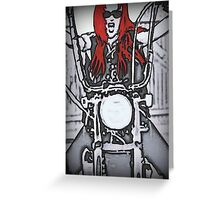 ORIGINAL BIKER DRAWING BY CARRIE-ANNE GRAY Greeting Card
