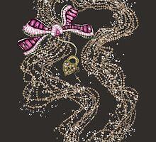 Edwardian Pearls, Bejewelled Ribbon & Padlock Jewellery  by marmalademoon
