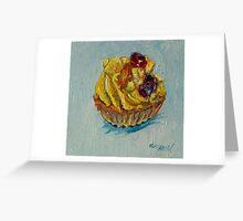 Fresh fruit tart Greeting Card