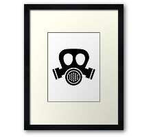 Gas mask Framed Print