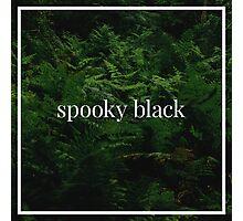 Spooky Black Photographic Print