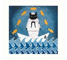 The Sailor and His Friends Art Print