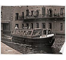 Narrow boat Gas street basin Poster