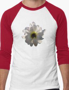 Backlit White Daisy Men's Baseball ¾ T-Shirt