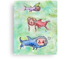 Lil Swimmers Canvas Print