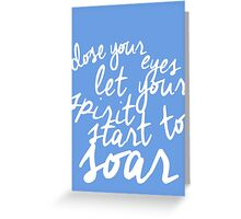 Music Of the Night quote  Greeting Card