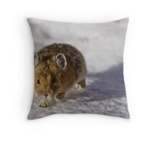 Pika On The Move Throw Pillow