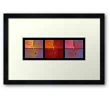 Triptych Purple Red Magenta - Colorful Rust Framed Print