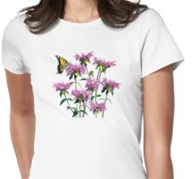 Tiger Swallowtail on Bee Balm Womens Fitted T-Shirt