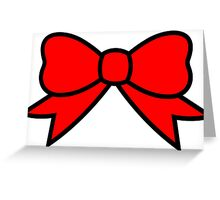 ..:BoW ReD:.. Greeting Card