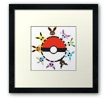 Eevee Evolution Ball Framed Print
