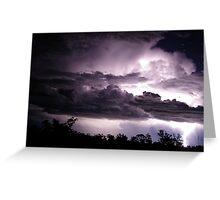 Lightning Greeting Card