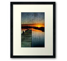 The Empty Pier 2 Framed Print