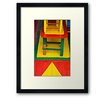 Can Blue Play Too? Framed Print