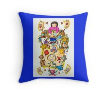 Momo's Art Comes Alive Throw Pillow