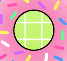 Pink Doughnut Sticker
