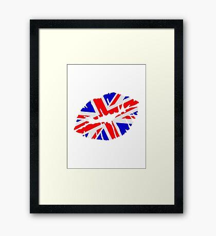 Great britain flag kiss  Framed Print