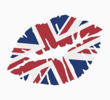 Great britain flag kiss  Kids Tee