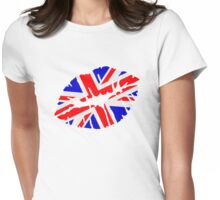 Great britain flag kiss  Womens Fitted T-Shirt