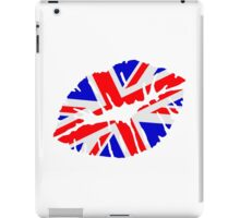 Great britain flag kiss  iPad Case/Skin