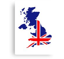 Great Britain UK map flag Canvas Print