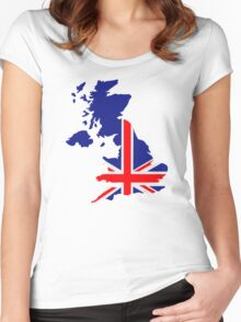 Great Britain UK map flag Women's Fitted Scoop T-Shirt