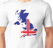 Great Britain UK map flag Unisex T-Shirt
