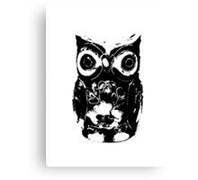 Mono Owl Canvas Print
