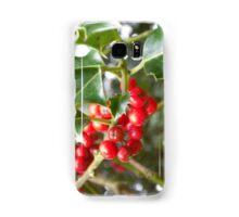 Holly berries Samsung Galaxy Case/Skin