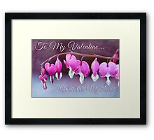 Hearts and Flowers for Valentine's Day Framed Print