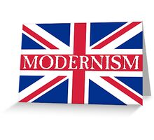 MODERNISM-UK Greeting Card