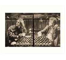 "iggy pop and tom waits,...""coffee and cigarettes"" Art Print"
