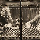 iggy pop and tom waits,...&quot;coffee and cigarettes&quot; by alan  sloey