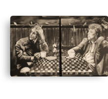 """iggy pop and tom waits,...""""coffee and cigarettes"""" Canvas Print"""