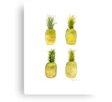 Four Mini Pineapples Canvas Print