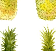 Four Mini Pineapples Sticker