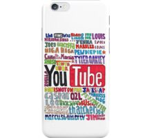Youtube Colored Collage iPhone Case/Skin