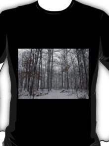 Winter Storm In The Bush T-Shirt