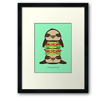 SLOTH BURGER Framed Print